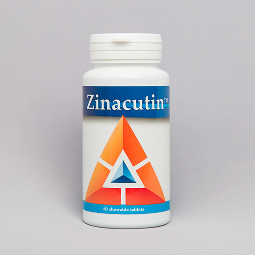 Zinacutin is a zinc supplement for dogs